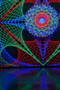 Ultraviolet Lights 3d Psychedelic Uv String Art By Happiehippiezdeco On