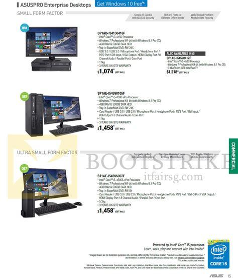 Desktop Pc Asus Pro D810mt 038f asus desktop pcs asuspro enterprise bp1ad i34150416f