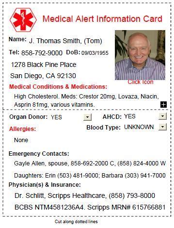 Alert Card Template Uk do you carry a alert card the caregiver space