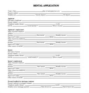 Standard Application Form Template by Rental Application Template 10 Free Word Pdf Documents