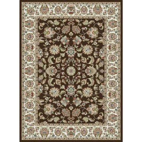 Tayse Rugs Capri Brown 5 Ft 3 In X 7 Ft 3 In Home Depot Area Rugs 5x8
