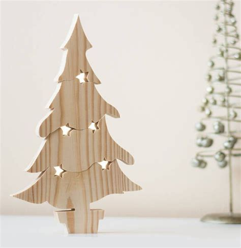 wooden christmas tree puzzle ornament trees christmas