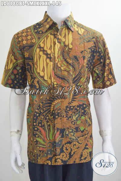 Baju Cowok Dewasa baju batik pria muda dan dewasa busana batik modis dan elegan model lengan pendek motif mewah