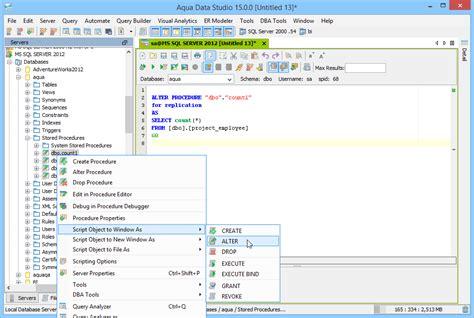Sql Server Change Table Schema Aqua Data Studio Microsoft Sql Server Tool Aquafold