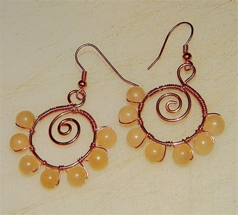 how to make wire jewelry earrings how to make spiraled bead and wire earrings 183 how to make