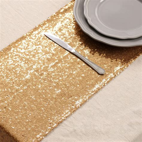 Hire Gold Sequin Table Runner Diy Wedding Shop