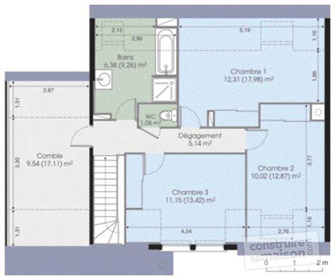 plan de maison 5 chambres plan maison moderne 5 chambres 10 contemporaine d du