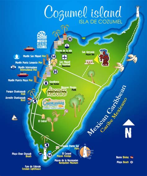 map of mexico cancun and cozumel tourist travel to mexico