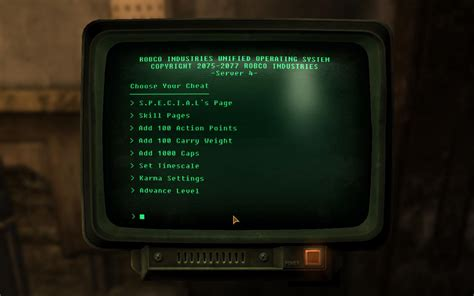 fallout 3 console cheats console commands fallout new vegas
