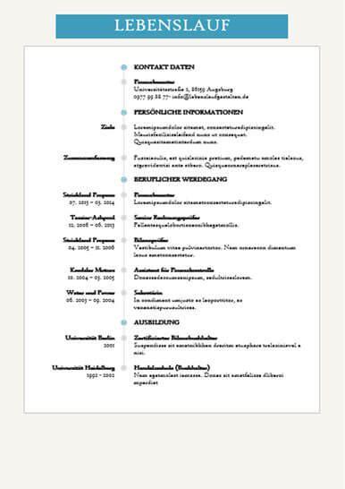 Lebenslauf Gestalten Vorlagen Lebenslauf Muster Und Vorlagen F 252 R Die Perfekte Bewerbung