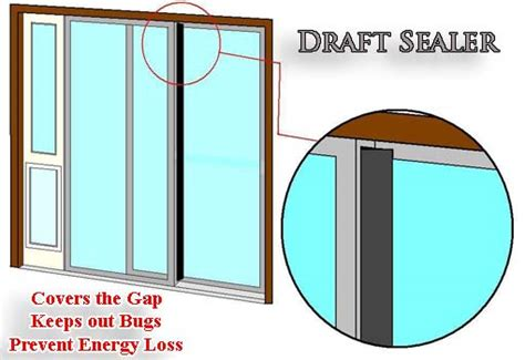 sliding doors gap in weather stripping draft sealer for sliding glass doors bug protection