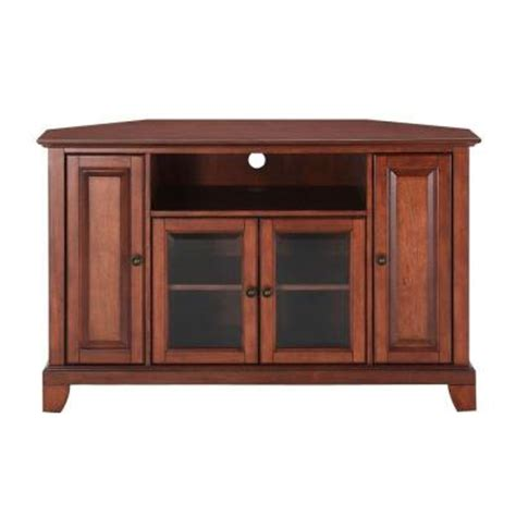 crosley newport corner tv stand in cherry kf10006cch the