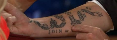 craig ferguson s tattoos craig ferguson s forearm based on a political