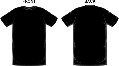 Black T Shirt Template Template Ideas T Shirt Front And Back Template