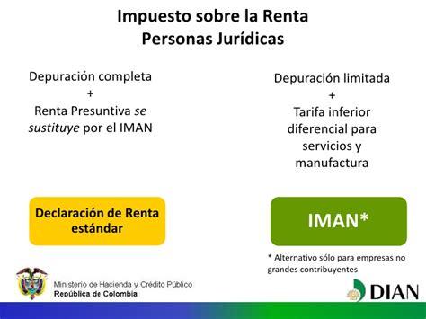 tarifa impuesto de renta 2016 personas juridicas colombia reforma trbutaria 2012