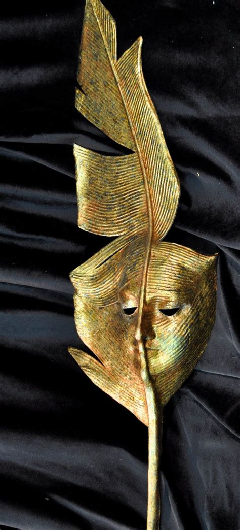 Handmade Venetian Masks - gold feather handheld mask handmade venetian mask via etsy