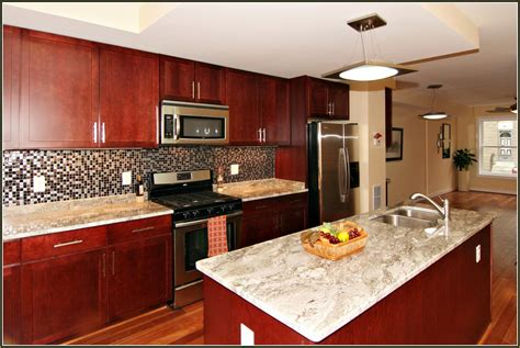 cherry cabinets with granite granite countertops with cherry cabinets edgarpoe