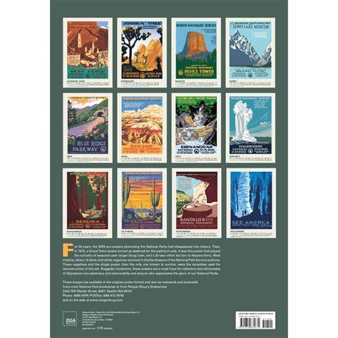 Calendar Poster National Parks Poster Of The Wpa Poster Calendar 2018
