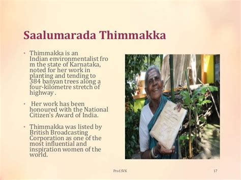 thimmakka biography in hindi environment concern