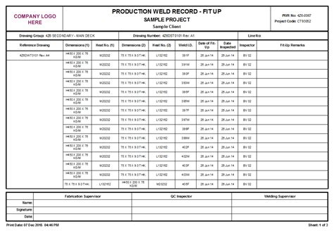 welding inspection report template welding inspection report template pictures to pin on