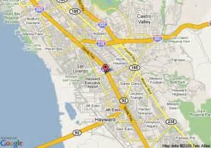 map of hayward california map of days inn hayward airport hayward