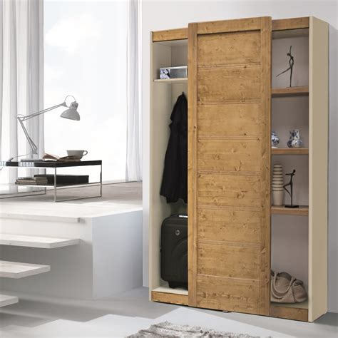 mobili guardaroba guardaroba da ingresso con anta in legno stanton arredaclick