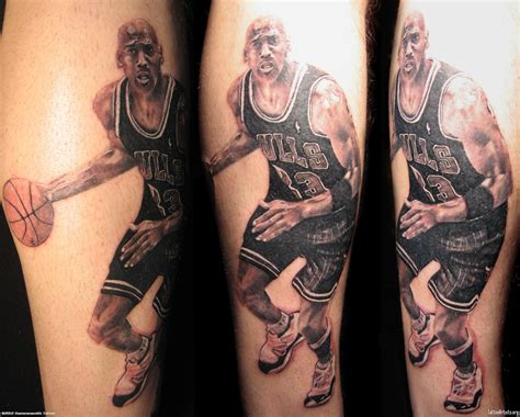 tattoo logo jordan the goat immortalised in ink 18 incredibly detailed