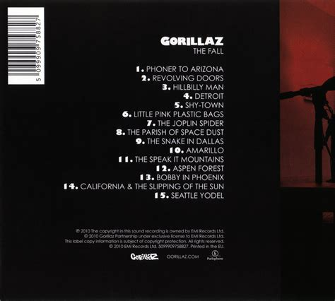 back of cd gorillaz the fall album covers