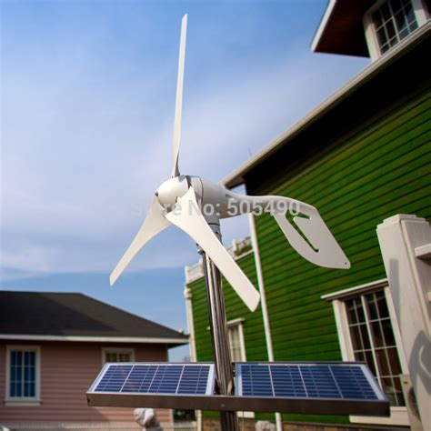 hybrid solar wind power generator 12 24v option combined