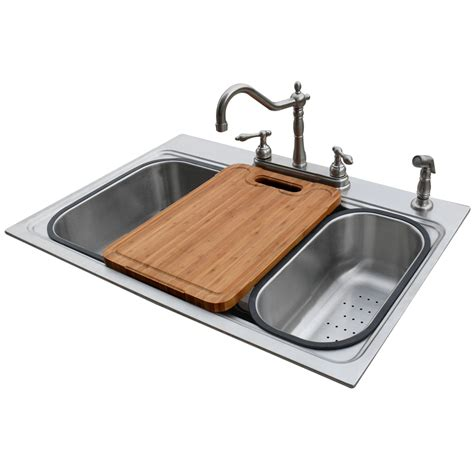 Single Basin Stainless Steel Kitchen Sink Shop American Standard 22 In X 33 In Silver Single Basin Stainless Steel Drop In Or Undermount 4
