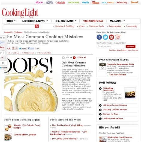 common cooking mistakes cooking tips and questions