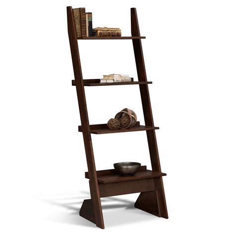 arts crafts leaning bookshelf value city furniture