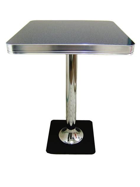 Retro Bar Table Bel Air Retro Furniture Diner Booth Hi Bar Table To23hb 70 X 70 Lawton Imports