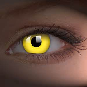vire colored contacts yellow glowing