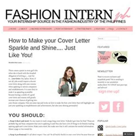 cover letter for fashion internship cover letters pearltrees