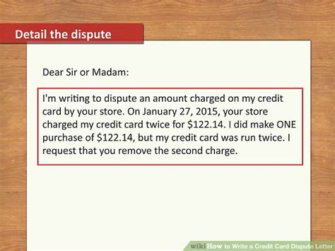 letter of dispute how to write a credit card dispute letter with pictures