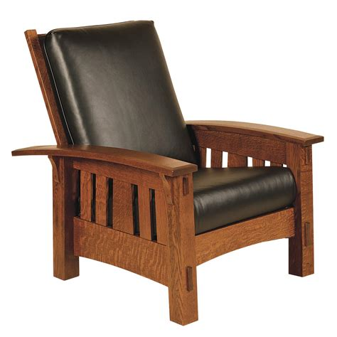 arts and crafts recliner amish mccoy morris chair