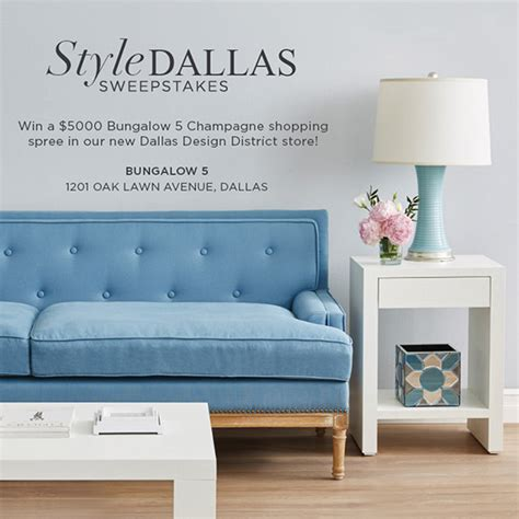 Dallas Sweepstakes - bungalow 5 announces winner of quot style dallas quot 5000 sweepstakes bungalow 5 prlog