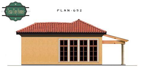 One Floor Tiny House Plan 652