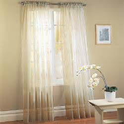 Window Sheer Curtains White Sheer Voile Window Panel Coverings Set Of 2 Only 54 99