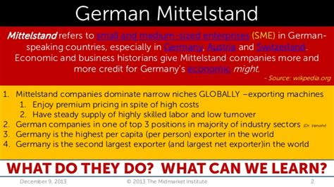 Top Mba Schools In Germany by German Mittelstand How Small Midsize German Companies