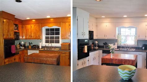kitchen cabinet makeovers 10 diy kitchen cabinet makeovers before after photos