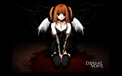 anime gothic girl wallpaper death note wings dark redheads emo gothic anime girls
