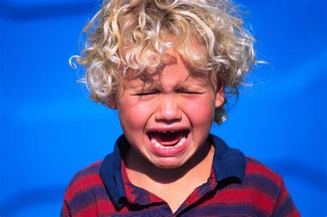 whining at kid