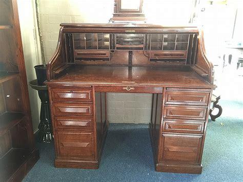 antique cutler roll top desk in american oak