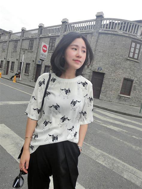 Stelan Celana Hitam Blouse Putih Wa blouse warna hitam gambar lucu modis myrosefashion