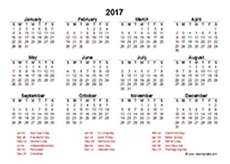 2017 calendar with australia holidays free printable