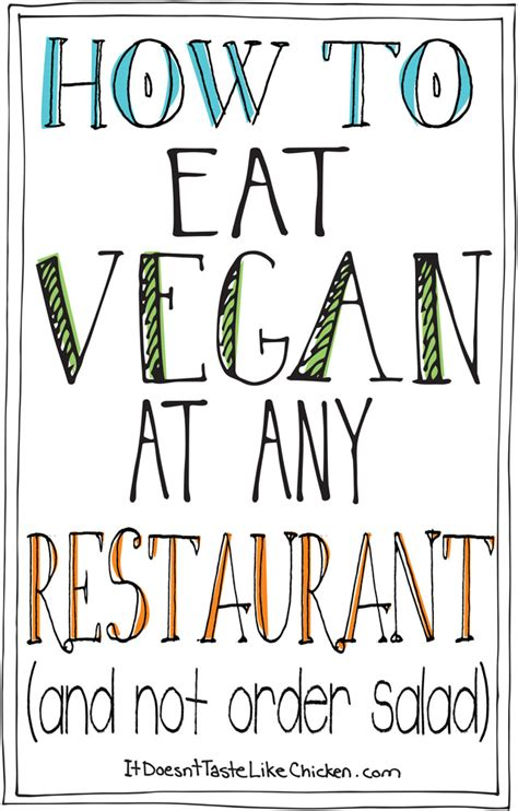 how to not to eat how to eat vegan at any restaurant and not order salad