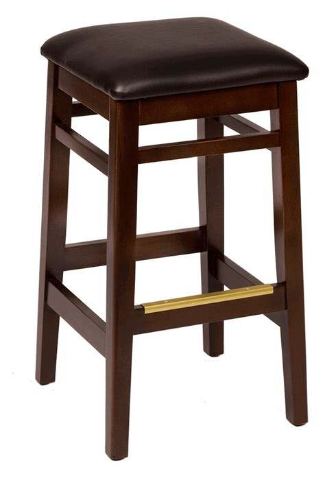 Square Bar Stools Mahogany Backless Commercial Square Bar Stool W Choice Of