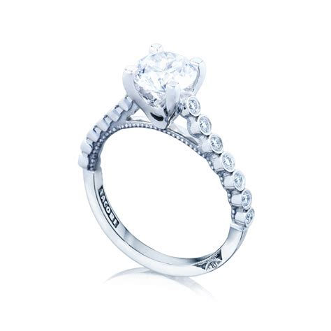 tacori engagement rings sculpted crescent bezel setting